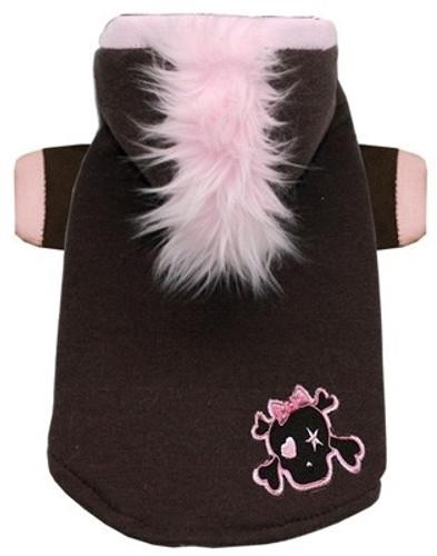 Dog Hoodie | Pink Skull Mohawk Dog Hoodie