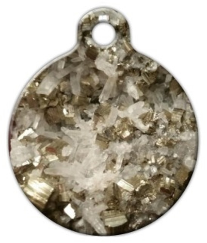 Pyrite Quartz Dog ID Tag