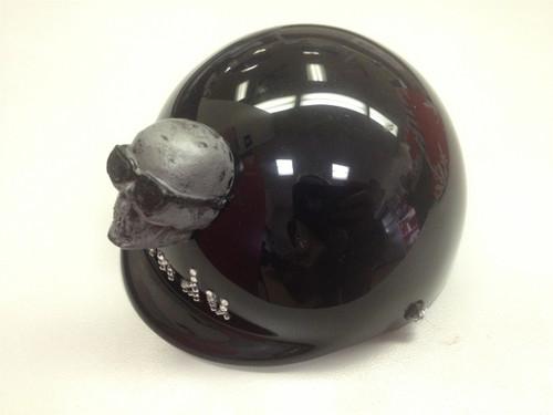 Custom Bling Name with Skull Dog Helmet