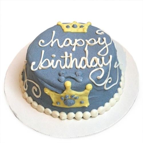 Blue Prince Dog Birthday Cake