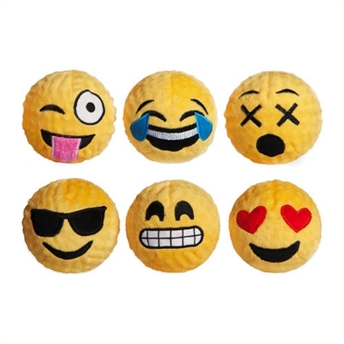Dog Toy Ball  | Emoji Squeaker Bouncy Ball Dog Toy