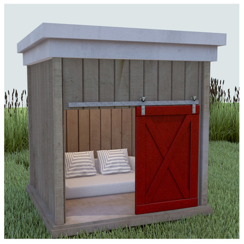 reclaimed barn wood dog house