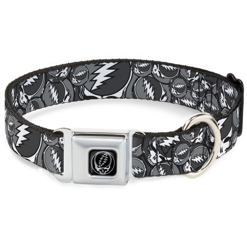 Dog Collar | Grateful Dead Dog Collar stacked grey
