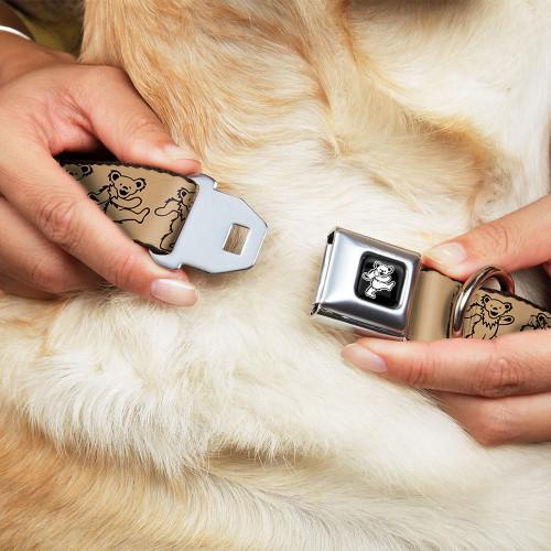 dog collar | dancing bears dog collar tan