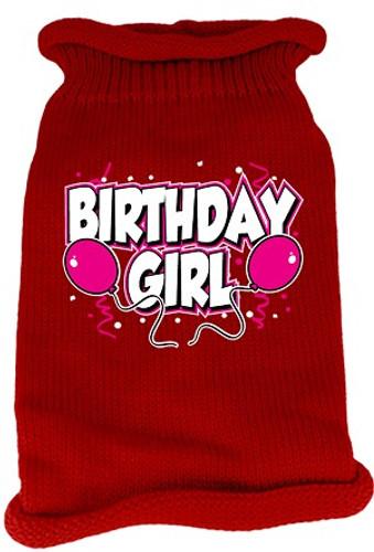 birthday girl dog sweater