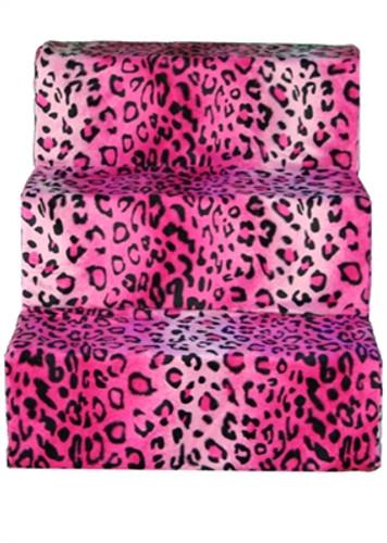 pink cheetah pet steps