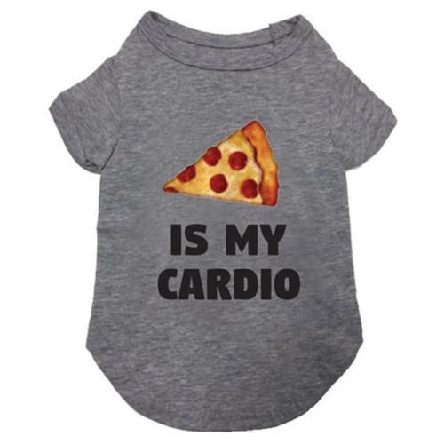 pizza is my cardio dog tee