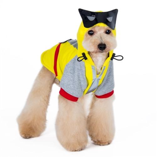 Rock Star Leather Print Dog Hoodie