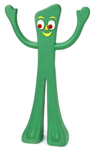 Dog Toy  | Flexible Rubber Gumby Dog Toy 9""