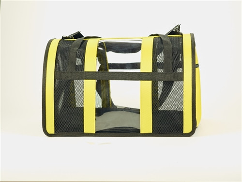 Dog Carrier | Yellow Puppy Shell Dog Carrier