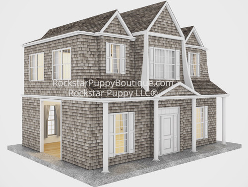 hamptons style custom dog house