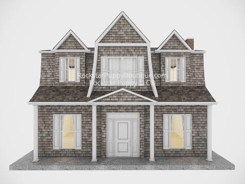 custom dog house hamptons style