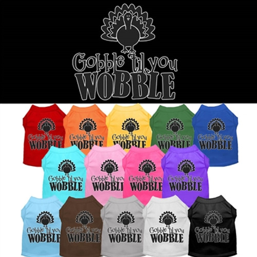 gobble til you wobble dog tee colors