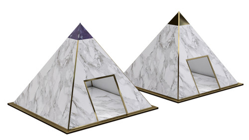 pyramid dog houses