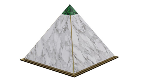 malachite pyramid dog house