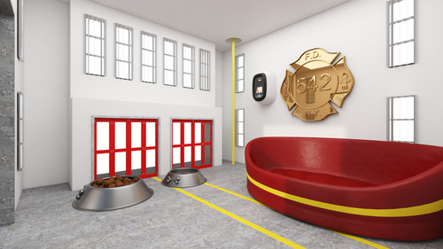 Fire Station Dog House Interior