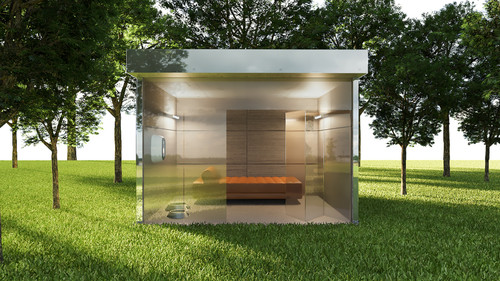 Mirrored Dog House
