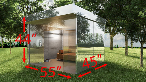 Mirror Dog House Dimensions