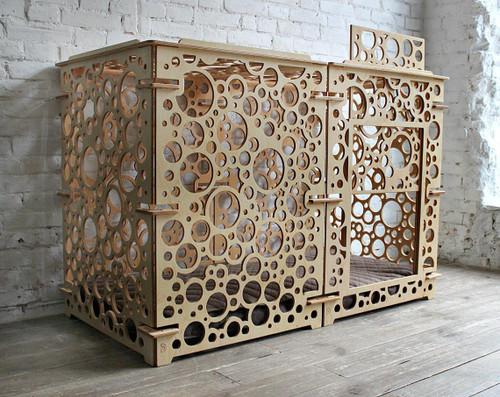 large minimalist dog crate