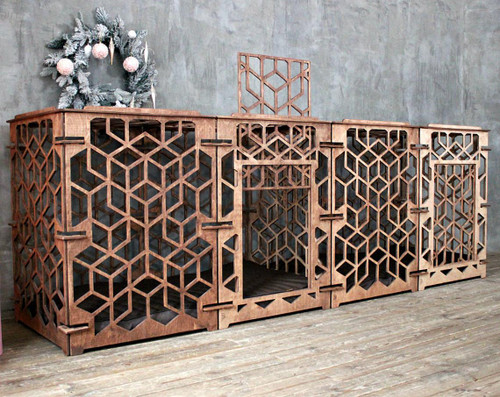 modern dog crate for 2 dogs