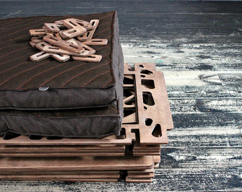 medium modern double dog crate kennel