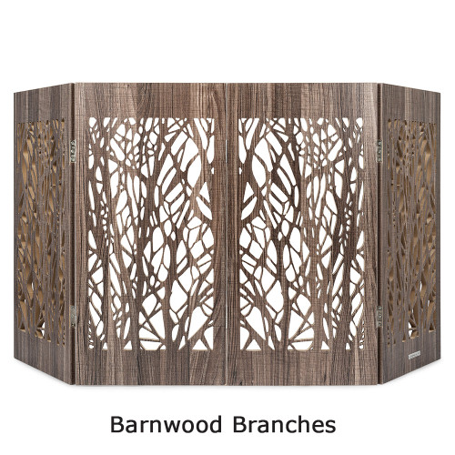 freestanding pet gate barnwood branches