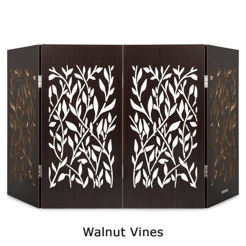 freestanding pet gate walnut vines