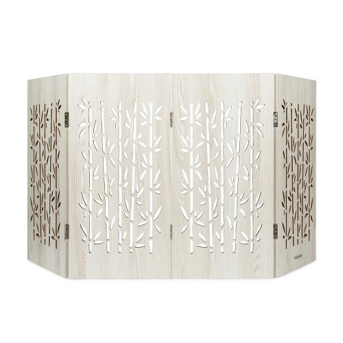 freestanding pet gate aspen bamboo