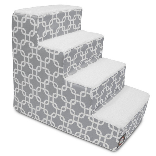 Gray Links 4 Steps Pet Stairs