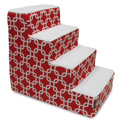 Red Links 4 Steps Pet Stairs