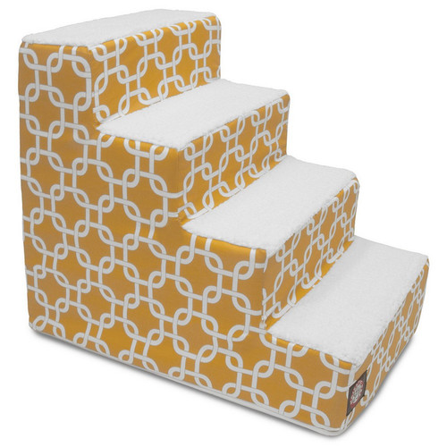 Yellow Links 4 Steps Pet Stairs