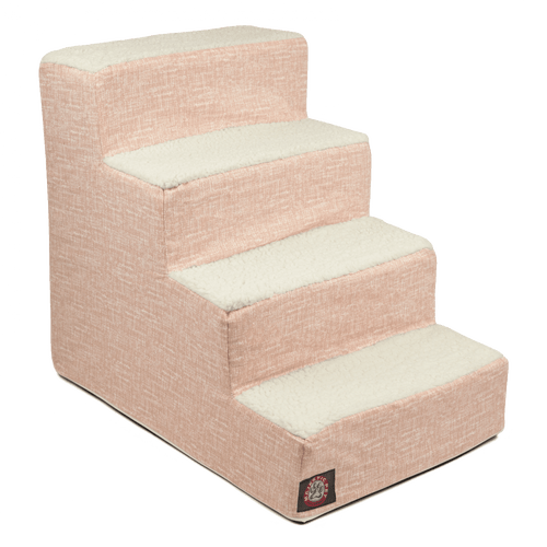 Blush Pink Palette Heathered 4 Steps Pet Stairs
