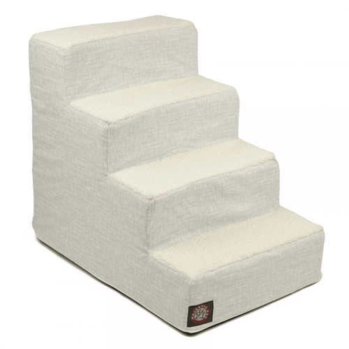 Gray Palette Heathered 4 Steps Pet Stairs