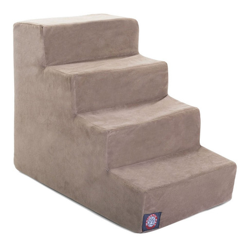 Stone Suede 4 Steps Pet Stairs