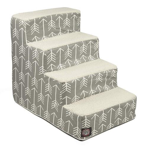 Gray Arrow 4 Steps Pet Stairs