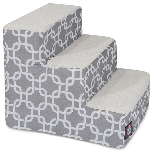 Gray Links 3 Steps Pet Stairs