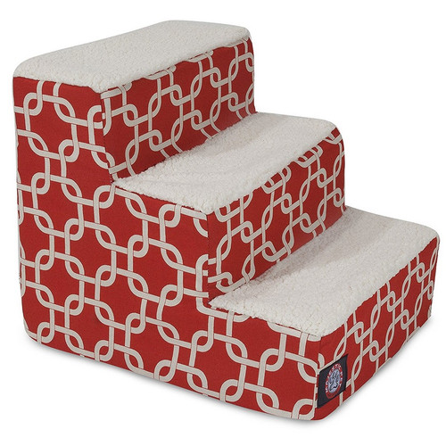 Red Links 3 Steps Pet Stairs