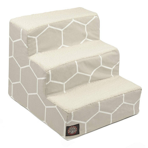 Gray Hexo Shapes 3 Steps Pet Stairs