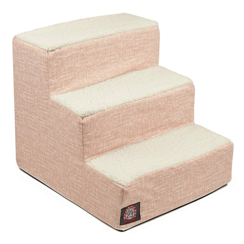 Blush Pink Palette Heathered 3 Steps Pet Stairs