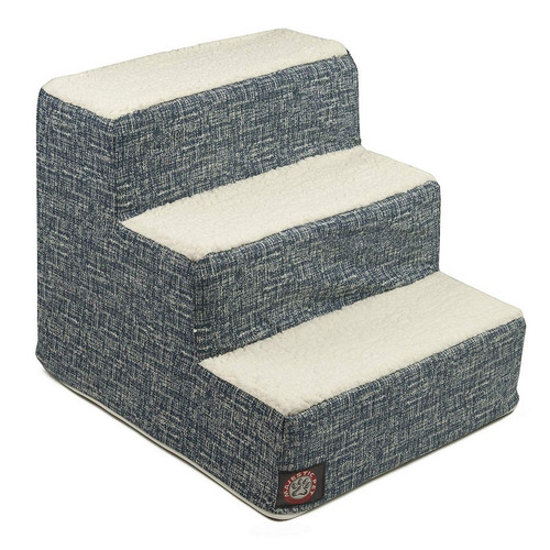 Navy Blue Palette Heathered 3 Steps Pet Stairs