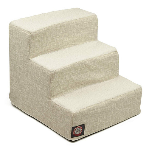 Neutral Tan Palette Heathered 3 Steps Pet Stairs