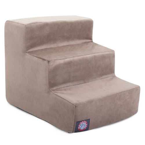 Stone Suede 3 Steps Pet Stairs