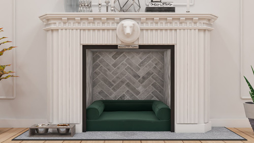 Faux Fireplace Dog Bed