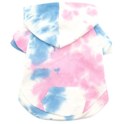 tie dye dog hoodie - back