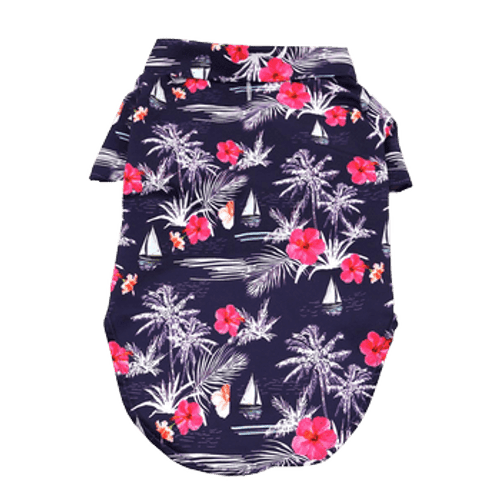 Dog Hawaiian Shirt - Moonlight Sails