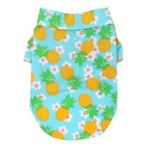 Dog Hawaiian Shirt - Pineapple Luau - Back