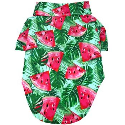 Dog Hawaiian Shirt - Juicy Watermelon - Back