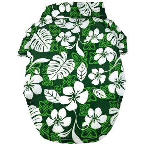 Dog Hawaiian Shirt - Tropical Green - Back