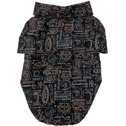 Dog Hawaiian Shirt - Hang Ten - Back