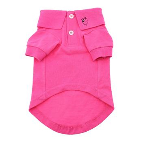 Dog Polo Shirt - Solid Raspberry Sorbet - front